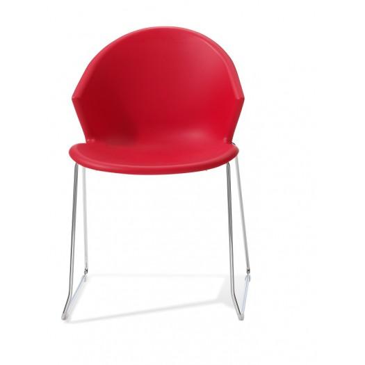 Silla roja polivalente para oficina Illy