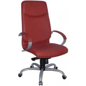 Silla blanca, roja, negra de director de oficina Elva