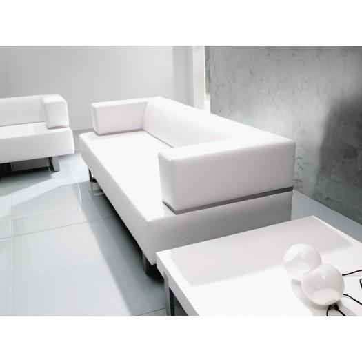 Sofa blanco o marrón de Piel Norma1 para oficinas