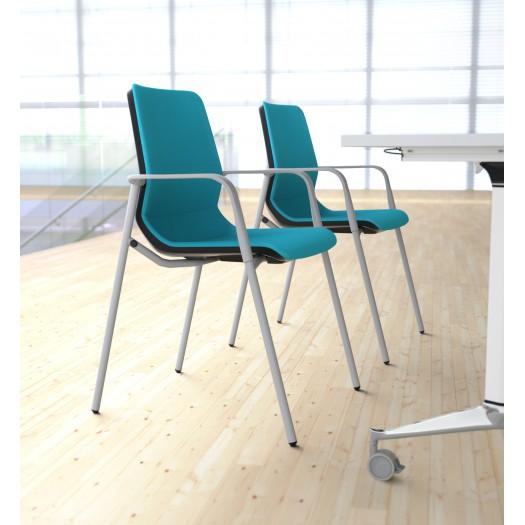 Sillas aguamarina ergonomicas para sala de espera en oficinas