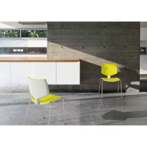 Silla de diseño para oficina loola - amarillas y blancas